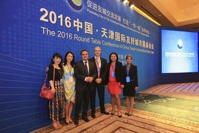 Délégation de la Région Réunion, présidée par Didier Robert, au Forum d'été de Davos, à Tianjin.