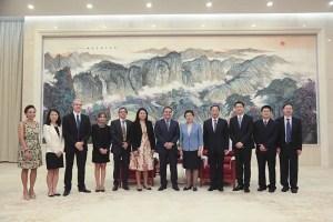 Délégation Réunion et les représentants de la Mairie de Tianjin