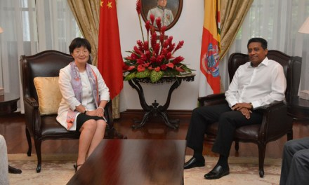 Départ de l'ambassadrice de Chine aux Seychelles