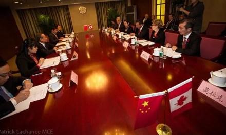 Accord de libre-échange Canada-Chine au point mort