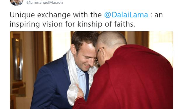 Emmanuel Macron, médiateur entre Beijing et le Dalaï Lama
