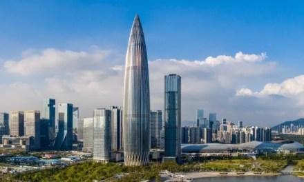 Shenzhen abrite un nouveau gratte-ciel en forme de balle de revolver