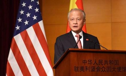 L'ambassadeur de Chine aux États-Unis convoqué