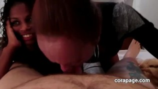Two Black Hookers Suck My White Cock