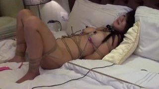 New chinese nude model having BDSM in portrait video 1