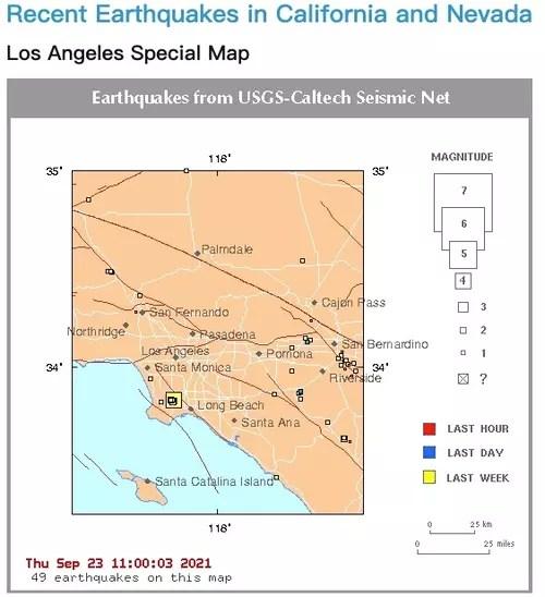 南加州地震数据中心的网站