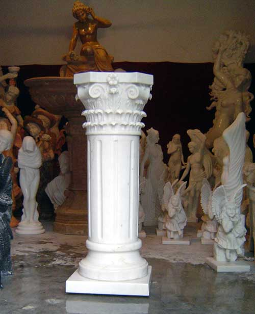 Roman Marble Carved Stone Column Pillar For House Building