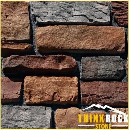 multicolor faux brick veneer wall