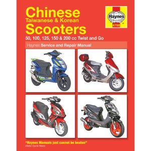 Haynes Chinese Scooter Service & Repair Manual 4768  H4768 | CMPO | Chinese Motorcycle Parts Online