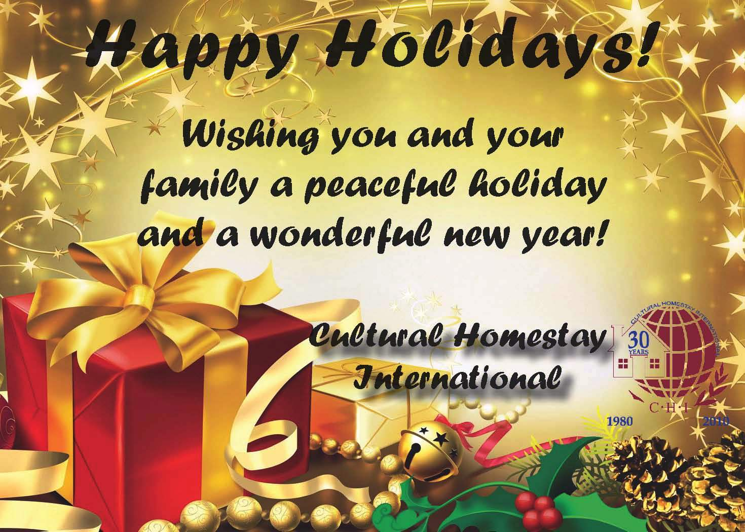 Happy Holidays From CHI CHI News