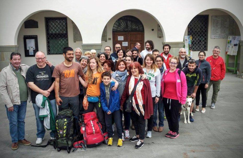 Partenza in Piazza Matteotti, Tavarnelle Val di Pesa.