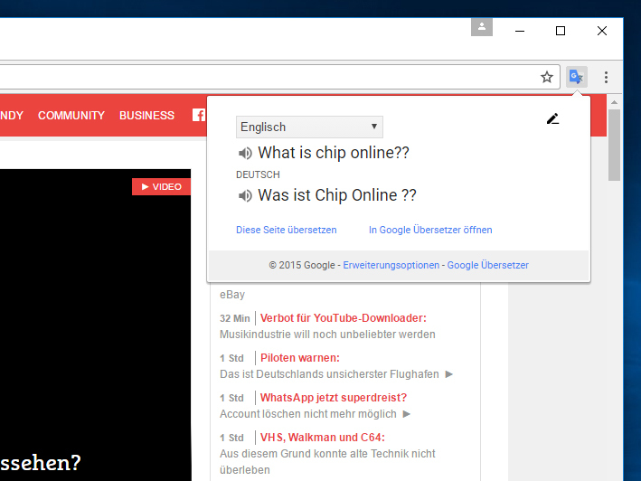 Google Translate übersetzer Für Google Chrome Download