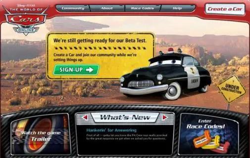 Disney S New World Of Cars Online