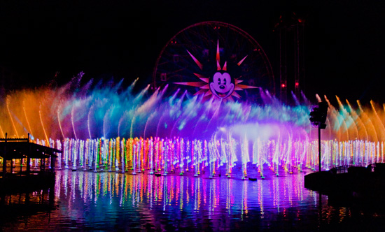 """Watch Disney's """"World of Color"""" Water and Light Show Live on Thursday at 8:30p PT/11:30p ET 1"""