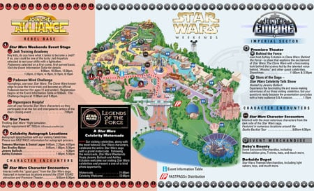 Schedule for 2010 Star Wars Weekends with Maps 3