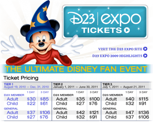 D23 Expo Tickets are Now Available 1