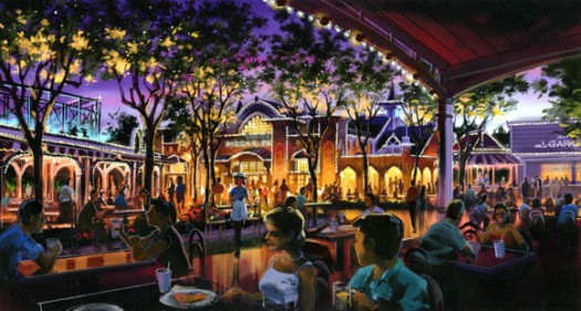 Disney venues close to clear space for dining area 1