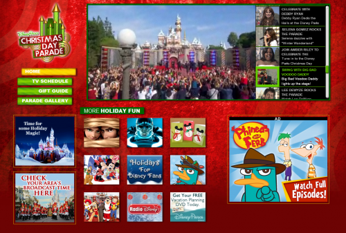 Disney Online Celebrates Countdown To 'Disney Parks Christmas Day Parade' On ABC With Dedicated Website 1