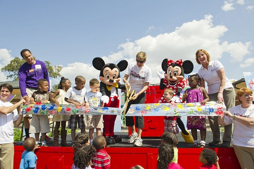 Disney, KaBoom! and Community Work Together to Build New Playground and Garden at Orlando Day Nursery 1