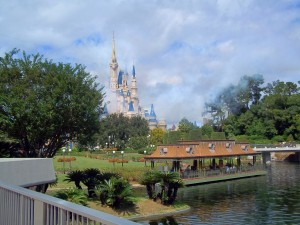 Capturing Disney in Pictures: A Fan's Rainy Day View of Cinderella Castle 1