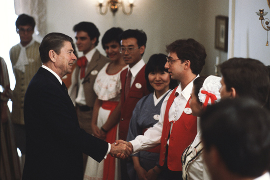 President Ronald Reagan on March 8, 1983, at Epcot