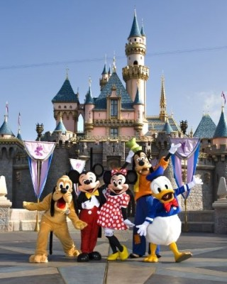 Disneyland and the gang