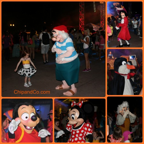 character dance party hollywood studios