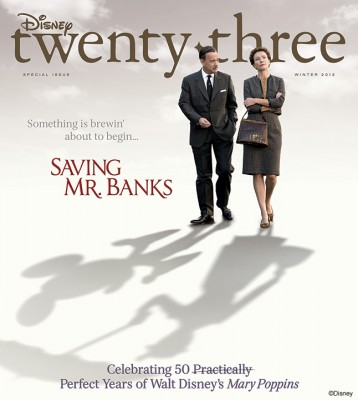 Disney Twenty Three Saving Mr. Banks Cover