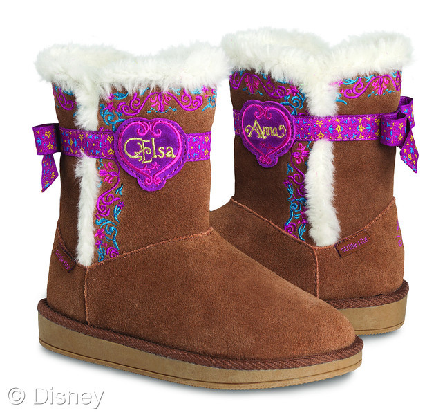 47162ad1ccc4 Frozen by Stride Rite Cozy Boot (MSRP  54.99)  This suede cozy boot  features sisters Anna and Elsa and has a lightweight