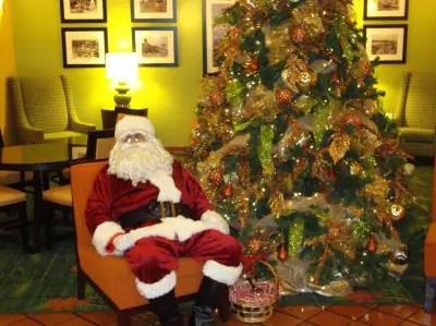 Santa Waiting For Disneyland Guests to Visit