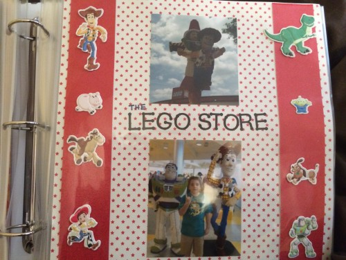 Lego Store Scrapbook Page