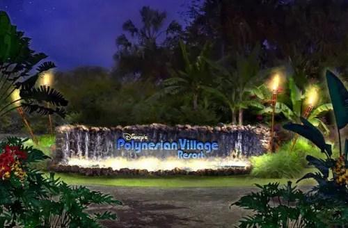 Disney Polynesian Village Sign