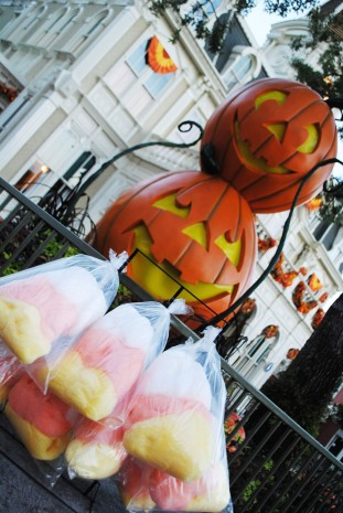 Not So Scary Halloween Party Candy Corn Cotton Candy