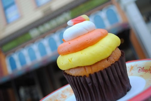 Not So Scary Halloween Party Candy Corn Cupcake