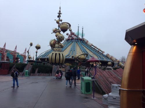 View of Space Mountain: Mission 2 in Discoveryland.