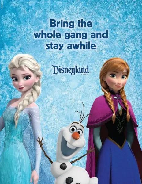 Elsa, Anna, Olaf Disneyland