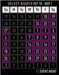 HHN Dates