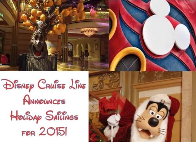 Holiday Sailings 2015