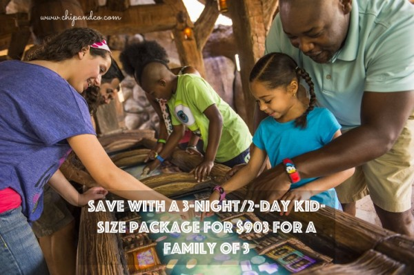 Save with a 3-Night/2-Day Kid-Size Package for $903 for a Family of 3