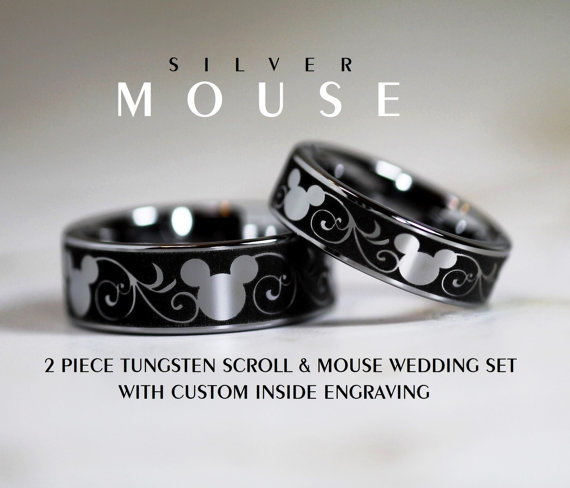 Disney Finds - Matching Mickey Wedding Bands