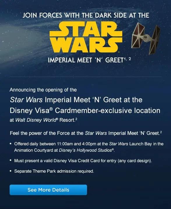 Star wars imperial meet n greet in hollywood studios for disney open now in hollywood studios is the star wars imperial meet n greet in the star wars launch bay m4hsunfo