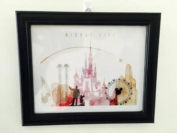 Disney Skyline Print