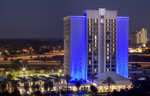 B Resort & Spa -- Night Exterior (1600x1021)