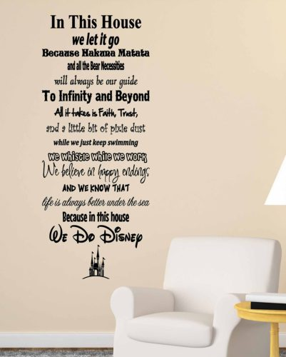 We do Disney Wall Decal
