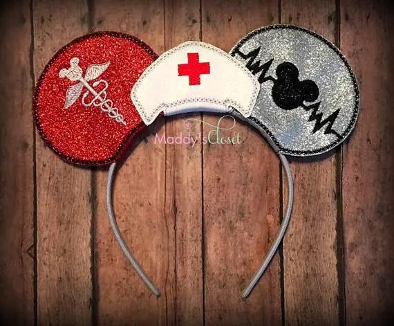 Nurse Themed Mickey Ears