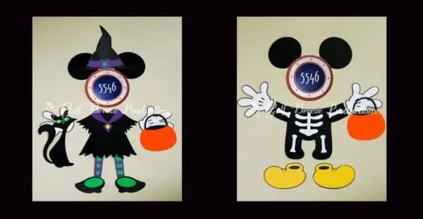 Disney Halloween Cruise Magnets