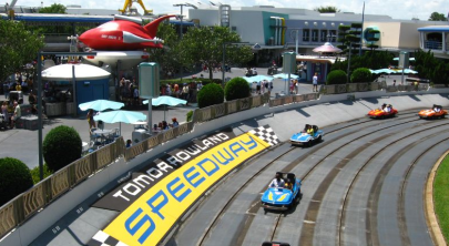 Image result for tomorrowland speedway broken down