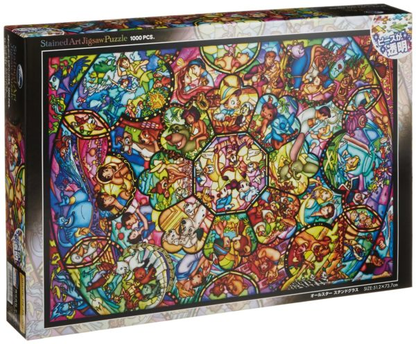 Disney Stained Glass Art Jigsaw Puzzle