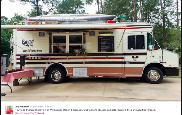 Camping Themed RV Food Truck Spotted at Fort Wilderness 1