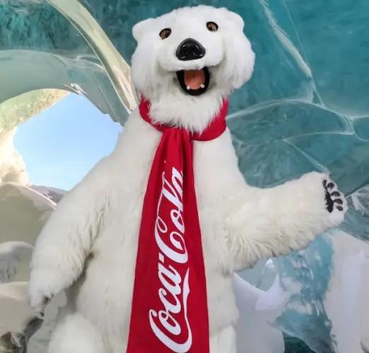 Snuggle up with the Coca Cola Polar Bear on National Polar
